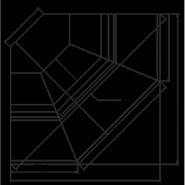 Холодильная витрина Джорджия - угловые элементы