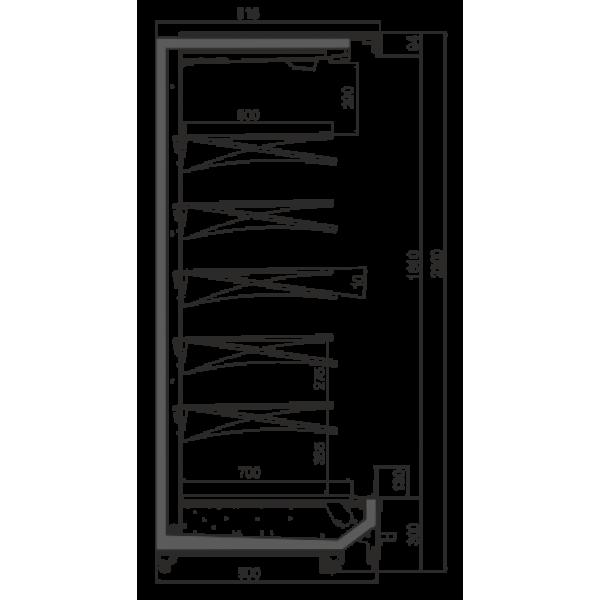 Холодильная витрина Индиана М пристенная