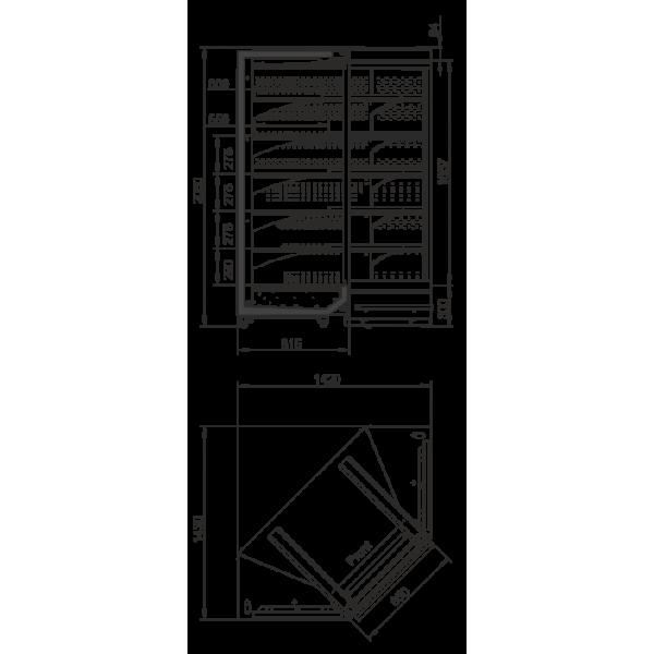 Холодильная витрина Индиана М D - угловые элементы