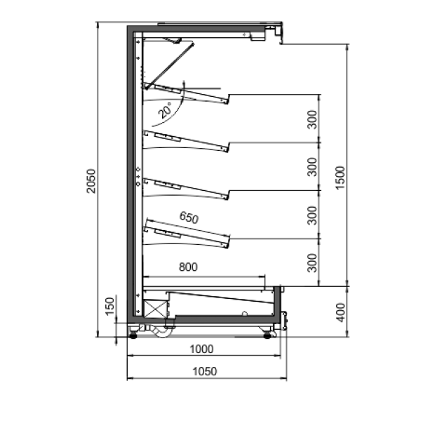 Витрина холодильная Индиана cube FV пристенная
