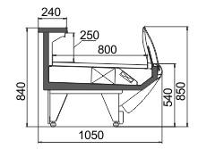 Схема холодильной витрины Symphony MG 100 deli PS/self M/А
