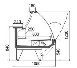 Схема холодильной витрины Symphony MG 100 deli OS M/А