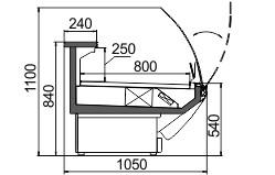 Схема холодильной витрины Symphony MG 100 deli T/T2 M/А